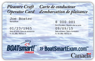 Canadian boating license card